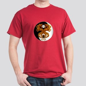 Yin Yang Dragons 7 Dark T-Shirt