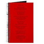 Yoga Poem Red Journal