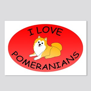 I Love Pomeranians Postcards (Package of 8)