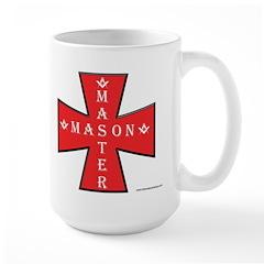 The Master Masons Maltese Cross Large Mug