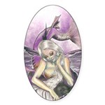 Moonlit Mermaid Sticker (Oval)