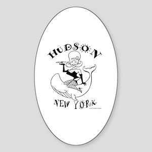 Hudson, New York Sticker (Oval)