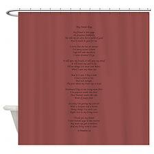 Yoga Poem Marsala Shower Curtain
