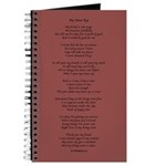 Yoga Poem Marsala Journal
