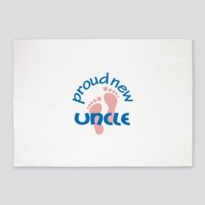 PROUD NEW UNCLE 5'x7'Area Rug