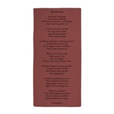Yoga Poem Marsala Beach Towel