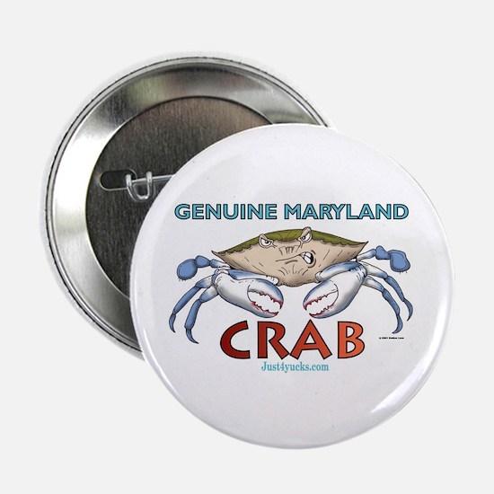 Genuine Maryland Crab Button