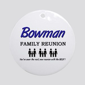 Bowman Family Reunion Ornament (Round)