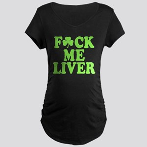 St. Patrick's Day Drinking  Maternity Dark T-Shirt