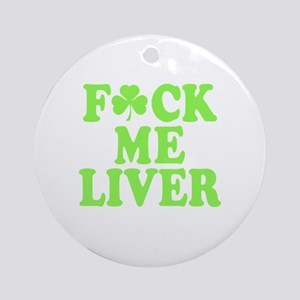 St. Patrick's Day Drinking Party Round Ornament