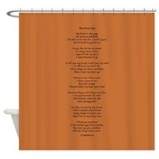 Yoga Poem Brown Shower Curtain