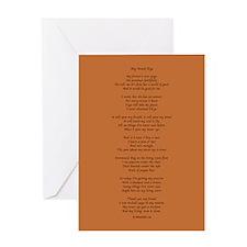 Yoga Poem Brown Greeting Card