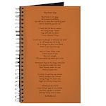 Yoga Poem Brown Journal