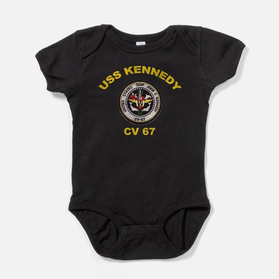 USS John Kennedy CV-67 Baby Bodysuit