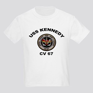 USS John Kennedy CV-67 Kids Light T-Shirt