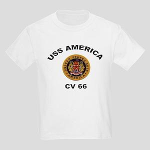 CV-66 USS America Kids Light T-Shirt