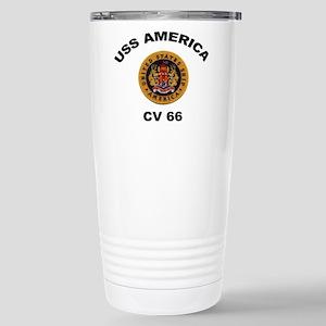 CV-66 USS America Stainless Steel Travel Mug