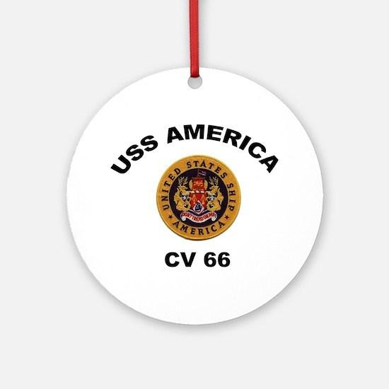 CV-66 USS America Ornament (Round)