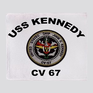 USS John Kennedy CV-67 Throw Blanket