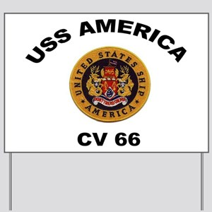 CV-66 USS America Yard Sign