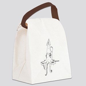 Squid with a balloon Canvas Lunch Bag