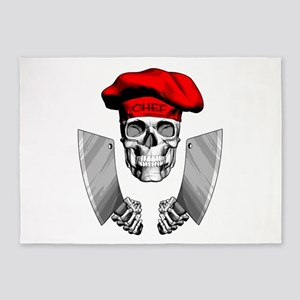 Butcher Skull 5'x7'Area Rug