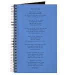 Yoga Poem Blue Journal