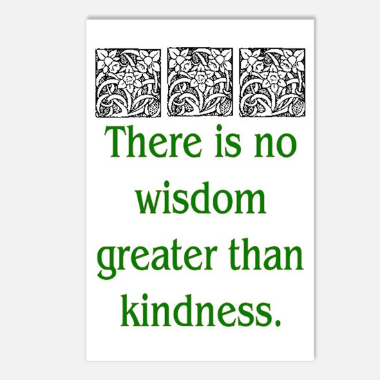 THERE IS NO KINDNESS... (GREEN) Postcards (Package