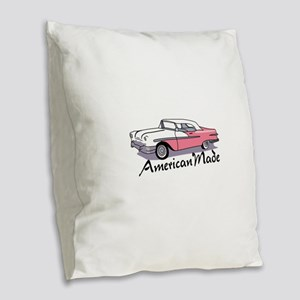 AMERICAN MADE Burlap Throw Pillow