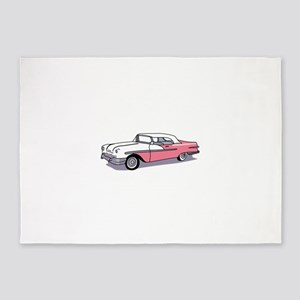 PINK CLASSIC CAR 5'x7'Area Rug