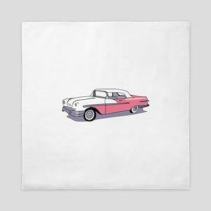 PINK CLASSIC CAR Queen Duvet