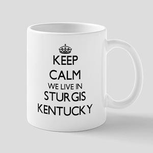 Keep calm we live in Sturgis Kentucky Mugs