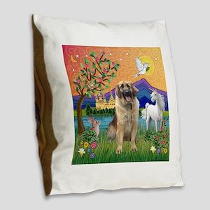 FantasyLand-Leonberger (G) Burlap Throw Pillow