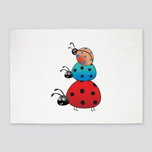 STACKED LADY BUGS 5'x7'Area Rug