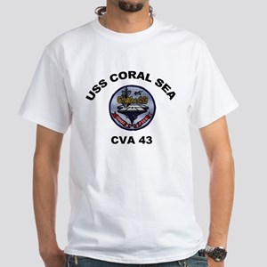 CVA-43 USS Coral Sea White T-Shirt