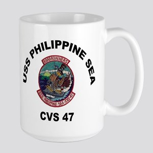 USS Philippine Sea CVS- 47 Large Mug