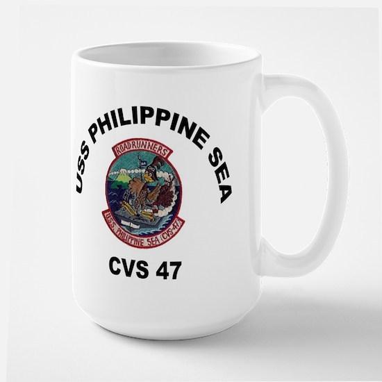USS Philippine Sea CVS- 47 Large Mug
