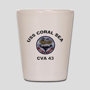 CVA-43 USS Coral Sea Shot Glass