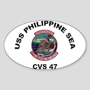 USS Philippine Sea CVS- 47 Sticker (Oval)