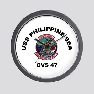 USS Philippine Sea CVS- 47 Wall Clock