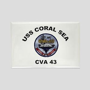 CVA-43 USS Coral Sea Rectangle Magnet