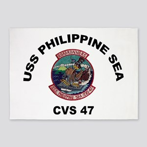 USS Philippine Sea CVS- 47 5'x7'Area Rug