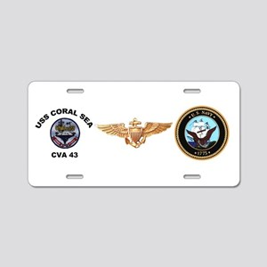 CVA-43 USS Coral Sea Aluminum License Plate