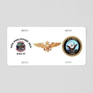 USS Philippine Sea CVS- 47 Aluminum License Plate