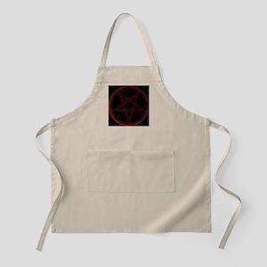 satanic star satan evil devil Light Apron