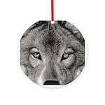 Wolf Sketch Ornament (Round)
