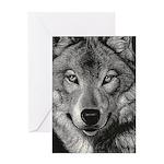 Wolf Sketch Greeting Card