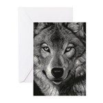 Wolf Sketch Greeting Cards (pk Of 10)