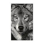 Wolf Sketch Sticker (Rectangle 10 pk)