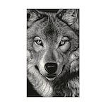 Wolf Sketch Sticker (Rectangle)